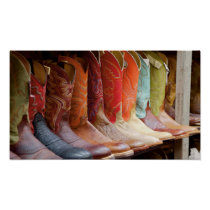 Cowboy boots line-up poster