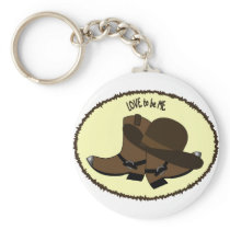 COWBOY BOOTS - LOVE TO BE ME KEYCHAIN