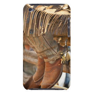 Cowboy boots on fence 2 iPod touch case