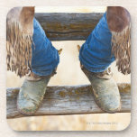 Cowboy boots on fence coasters