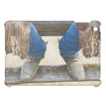 Cowboy boots on fence iPad mini cover