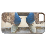Cowboy boots on fence iPhone 5 case
