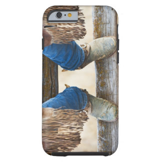 Cowboy boots on fence tough iPhone 6 case