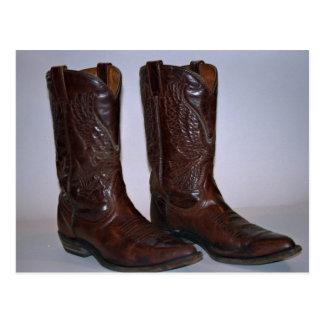 Cowboy boots post card