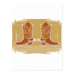Cowboy boots postcard