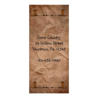 Cowboy Boots Rack Card