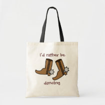 Cowboy Boots Rather be Dancing Country Western Tote Bag