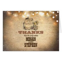 Cowboy Boots Rustic Country Wedding Thank You