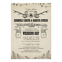 Cowboy Boots Sunflower Country Rustic Barn Wedding Invitation