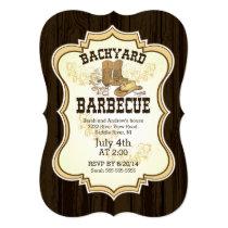 Cowboy Boots Western Backyard Barbecue Invitation