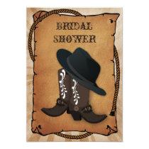 cowboy boots western Bridal shower Card