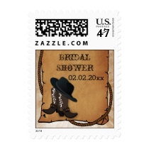 cowboy boots western Bridal shower Stamps