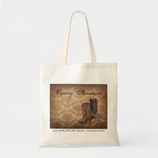 cowboy boots western country fashion business tote bags