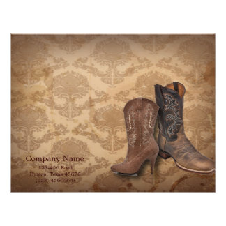 cowboy boots western country fashion business letterhead