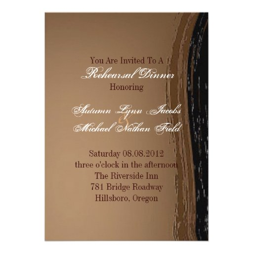 Cowboy Boots Western Country rehearsal dinner Personalized Invites