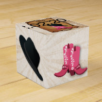 cowboy boots western Personalized favor boxes