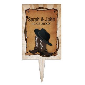 cowboy boots western theme Personalized Cake Picks