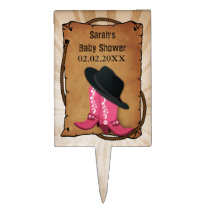 cowboy boots western theme Personalized Cake Picks