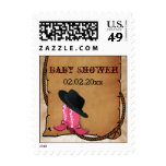 cowboy boots western theme Personalized Stamps