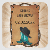 cowboy boots western theme Personalized stickers
