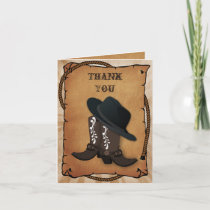 cowboy boots western Theme Thank you