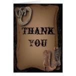 Cowboy Boots Western Wedding Thank You Card