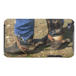 Cowboy boots with spurs iPod touch case