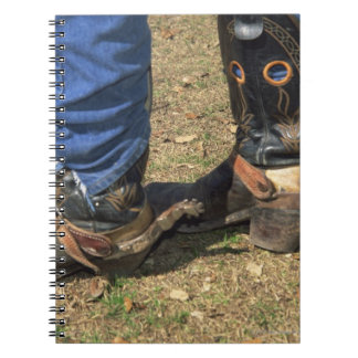 Cowboy boots with spurs notebook