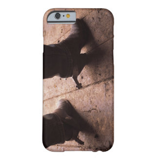Cowboy boots with spurs on boardwalk at barely there iPhone 6 case