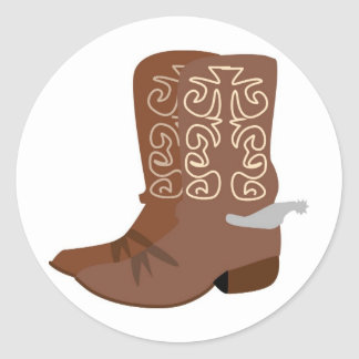 Cowboy Boots with Spurs Stickers