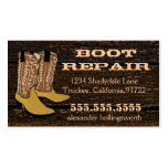 Cowboy Boots-Wood Look Double-Sided Standard Business Cards (Pack Of 100)