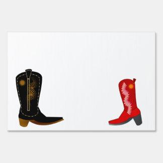 Cowboy Boots Signs