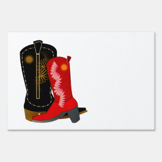 Cowboy Boots Sign