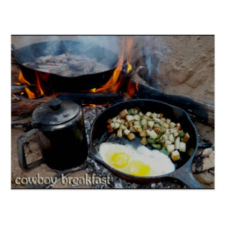 Cowboy Breakfast Broke Down In The Sandy Wash Postcard