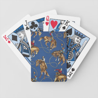 Cowboy Bronc Rider Blue Game Playing Cards