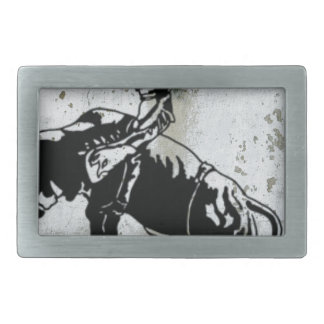 Cowboy Bull Riding Rodeo Western American Rectangular Belt Buckles