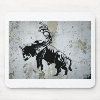 Cowboy Bull Riding Rodeo Western American Mouse Pad