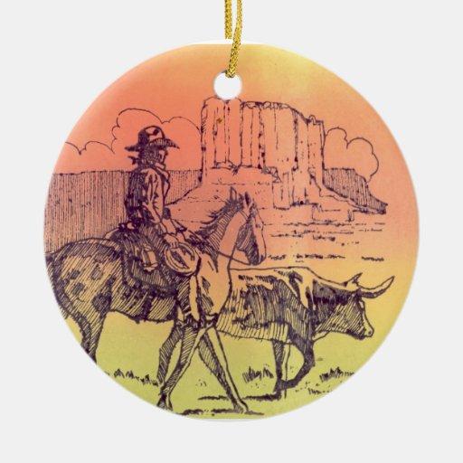 cowboy bull rimrocks ornaments