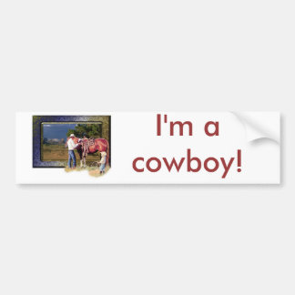 Cowboy Bumper Sticker