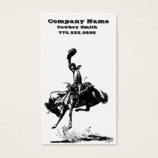 Cowboy business cards