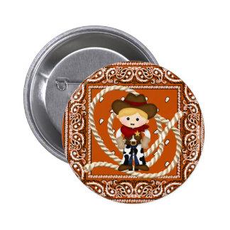 Cowboy Pinback Button