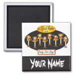 Cowboy Candy Corn Gang | Halloween 2 Inch Square Magnet