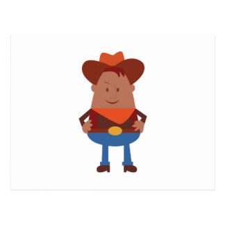 Cowboy Cartoon Postcard