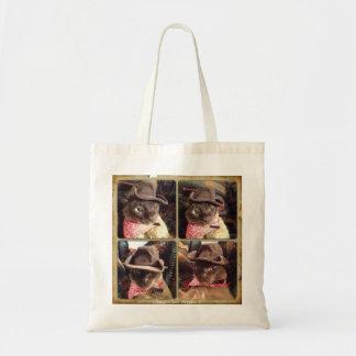 Cowboy Cat, 4 Views Budget Tote Bag