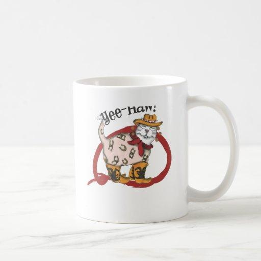 Cowboy Cat Classic White Coffee Mug
