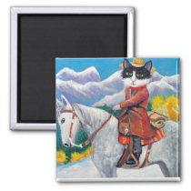 Cowboy Cat Magnet