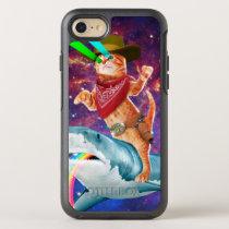 Cowboy cat - orange cat - cat shark OtterBox symmetry iPhone SE/8/7 case