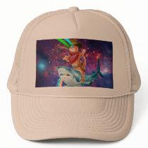 Cowboy cat - orange cat - cat shark trucker hat