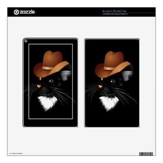 Cowboy Cat Kindle Fire Skin
