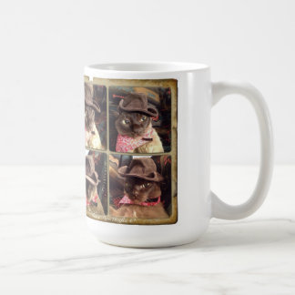Cowboy Cat x 4 Classic White Coffee Mug
